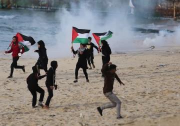 الحراك البحري 23 شمال قطاع  غزة