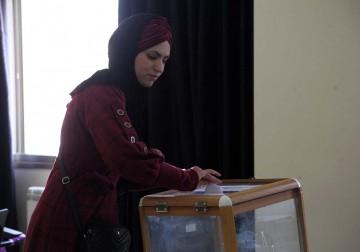 أجواء انتخابات مجلس اتحاد الطلبة في جامعة الخليل