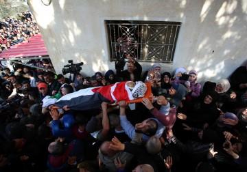 تشييع جثمان الشهيد أحمد أبو عبيد في مدينة جنين، ظهر اليوم