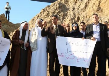 وقفة احتجاجية لوقف تجريف وتدمير تل السكن الأثري في غزة