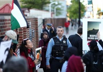 تظاهرة داعمة للفلسطينيين في شيكاغو