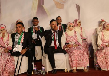 صور : حفل زفاف لـ 19 من جرحى العدوان على قطاع غزة برعاية من الامارات.