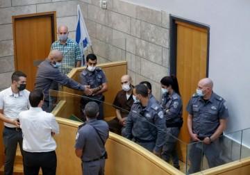 """جلسة محاكمة للأسيرين مناضل انفيعات وأيهم كممجي أبطال """"نفق الحرية"""""""