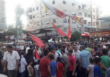 وقفة حاشدة للجبهة الشعبية شمال القطاع لدعم جهود المصالحة