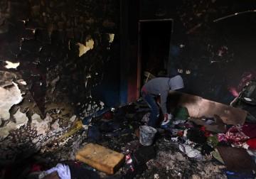 اطفال غزة بعمر الزهور أحرقتهم الشموع .