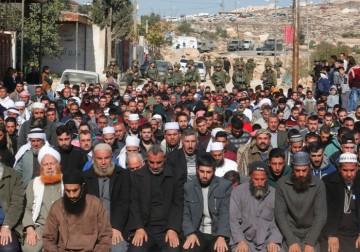 الاحتلال يقمع مسيرة أهالي خربة قلقس