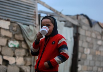 الأجواء في قطاع غزة خلال المنخفض الجوي