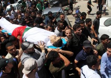 تشييع جثمان الشهيد محمود بدوان في غزة