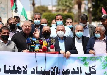 غزة: وقفة فصائلية إسنادًا لأبناء شعبنا بالقدس في وجه عدوان الاحتلال