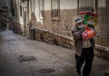 أزقة البلدة القديمة في مدينة القدس..