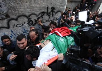 تشييع جثمان الشهيد تامر أبو الخير غرب غزة