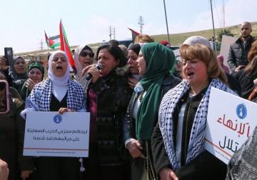 مسيرة مركزية في خان الأحمر بمُناسبة يوم المرأة العالمي