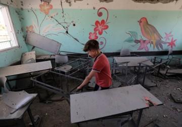عدوان الاحتلال طال مدارس الأطفال في غزة..