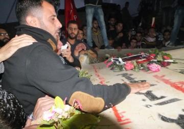 المحرر غسان يلتقي الشهيد معتز