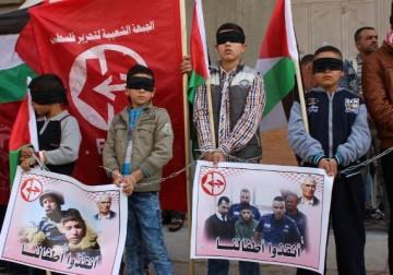 أطفال خانيونس يدعمون أمثالهم الأسرى لدى الاحتلال
