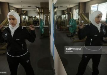 رياضة نسائية في غزة .