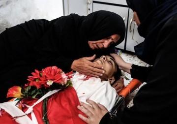 تشييع حاشد للشهداء الأطفال في غزة