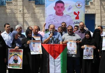 اعتصام تضامني مع الأسير حسن شوكة في غزة