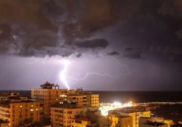 البرق في غزة