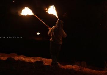 """ثوار """"بيتا"""" يواصلون فعاليات الإرباك الليلي على جبل صبيح"""