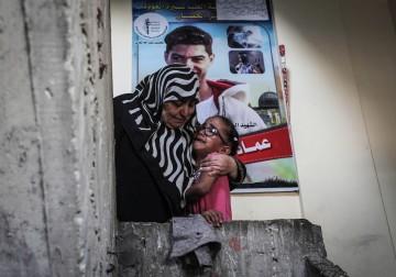 تشييع جثمان الشهيد عماد شاهين في مخيم النصيرات