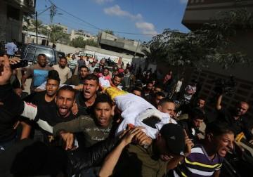 جنازة الشهيد أحمد الشحري في خانيونس