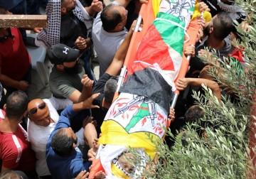 جماهير شعبنا في بيت لحم تُشيع جثمان الشهيد حسين مسالمة