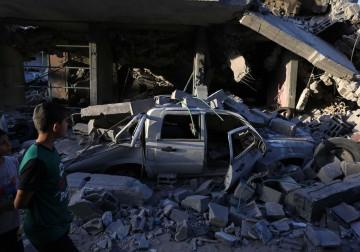 من آثار العدوان على غزة
