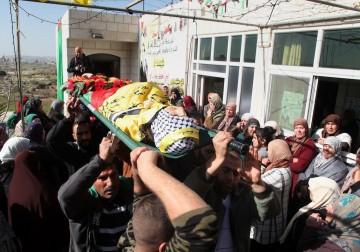 جنازة الشهيد أيمن حامد في سلواد قرب رام الله