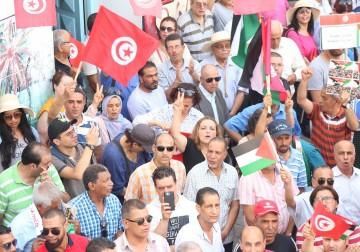 تظاهرة ضخمة في تونس رفضًا للتطبيع مع العدو الصهيوني