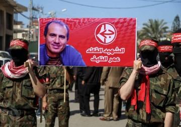 الشعبية في غزة تنظم مسير حاشد للشهيد النايف