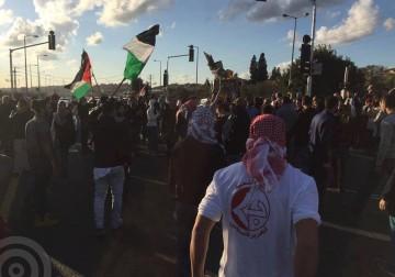عشرات الاف المتظاهرين يغلقون وادي عارة احتجاجا على جرائم الاحتلال