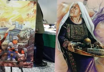 صور / فنانون تشكيليون يرسمون فلسطين في معرض باسطنبول