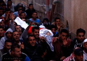 تشييع جثمان الشهيد محمد الصالحي بمخيم الفارعة بنابلس