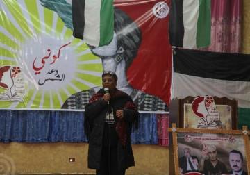 نظمت الجبهة الشعبية لتحرير فلسطين في محافظة شمال غزة مهرجان تراثي على شرف يوم المرأة