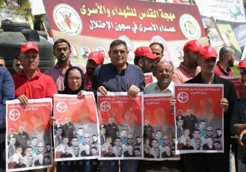مؤتمر صحفي يعلن انضمام مجموعة من قيادات الجبهة الشعبية و الحركة الاسيرة لاضراب الكرامة
