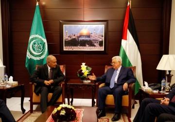 صور | الأمين العام للجامعة العربية يزور رام الله