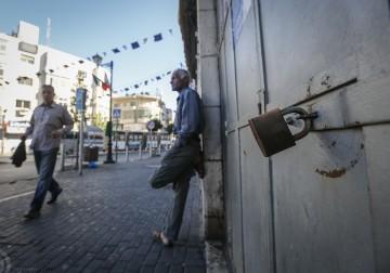 رام الله - الاضراب الشامل في رام الله تضامنا مع الاسرى المضربين عن الطعام لليوم الـ36 على التوالي