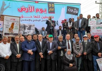 مئات الفلسطينيين يتظاهرون شمال غزة لإحياء