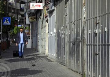 رام الله - اضراب شامل في رام الله تضامنا مع الاسرى المضربين عن الطعام في سجون الاحتلال الاسرائيلي