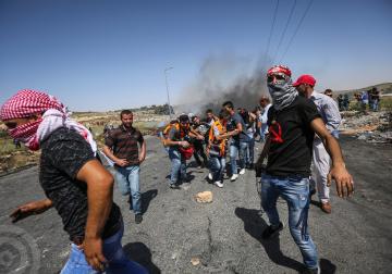 مواجهات مع قوات الاحتلال في منطقة البالوع بالبيرة
