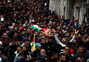 تشييع جثمان الشهيد محمد علي دار عدوان شمال القدس المحتلة