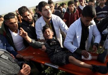 """الاحتلال يقمع المشاركين في جمعة """"جريمة الحصار مؤامرة لن تمر"""""""