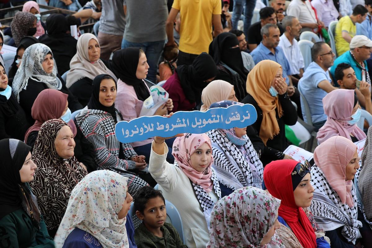 مؤتمر حاشد في غزّة لرفض اتفاق الإطار بين الأونروا وأميركا (8).jpg
