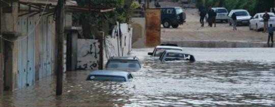 غرق منازل المواطنين في منطقة وادي غزّة-  شرق القطاع