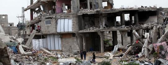 جانب من الدمار الذي ألحقه الاحتلال بمنازل غزة خلال عدوان 2008