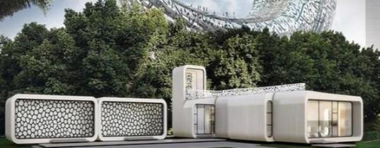 مساحة المبنى تبلغ 185 مترا مربعا وسيتم طباعته طبقة تلو الأخرى باستخدم طابعة يبلغ ارتفاعها 20 قدما