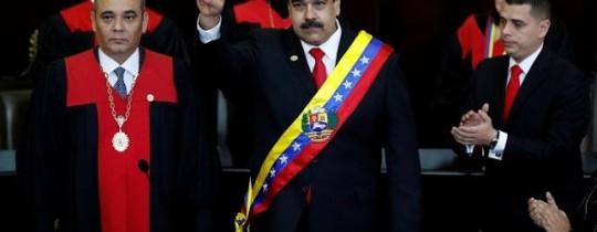 من مراسم تنصيب الرئيس مادورو لولاية ثانية