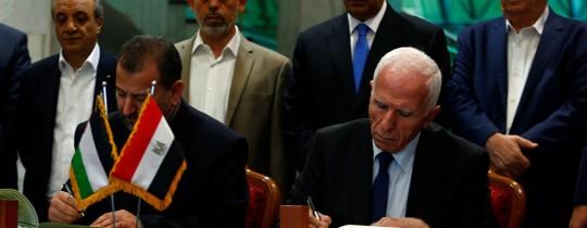 توقيع الاتفاق في القاهرة