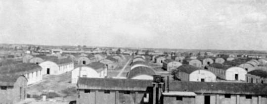 صورة مُعسكر للجيش الإنجليزي بالقرب من بلدة عبدس 1948